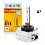 2 x Ampoules xenon D1S Philips 35w 5500k