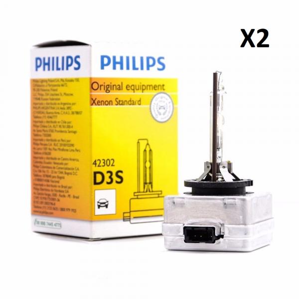 2 x Ampoules xenon D3S Philips 35w 4300k