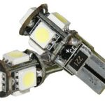 2 x AMPOULES T10 W5W 5 LED SMD CANBUS BLANCHE